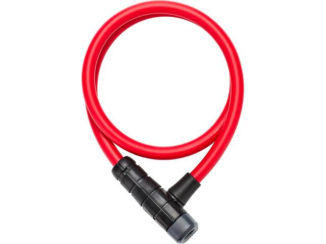 ABUS Primo 5412K/85 Kabelslot, rood/zwart